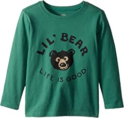 Life is Good Kids - Lil Bear Long Sleeve Crusher Tee (Toddler)