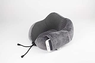 JERA Travel Neck Support Pillow | 100% Pure Premium Memory Foam | Soft, Breathable & Washable Cover | Comfortable for Airplane, Train, Car or Home | Free Bonus 3D Fitted Eye Sleep Mask, Earplugs and Luxury Carry Bag