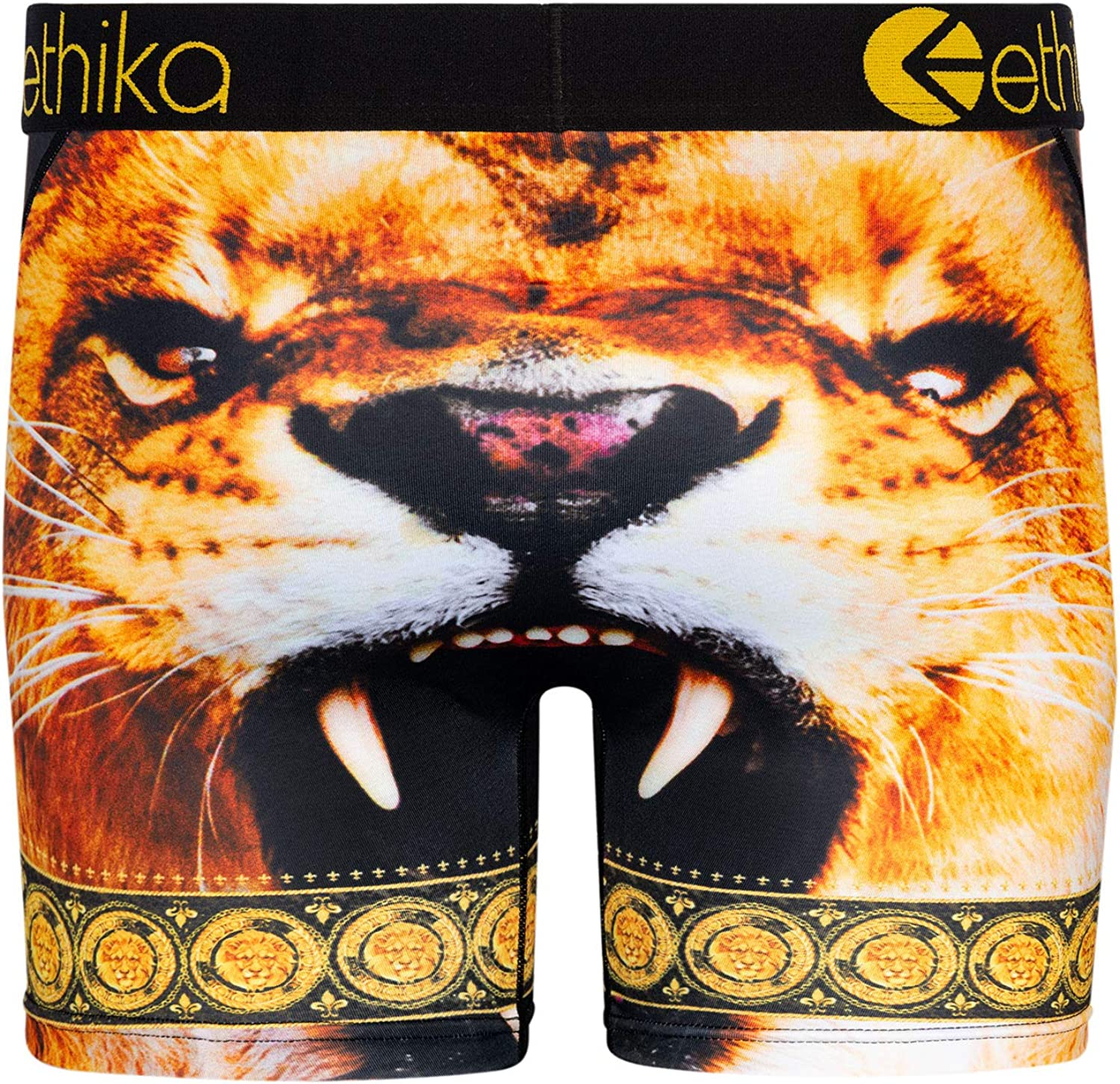 Ethika Mens Mid Boxer Briefs | Mighty Lion