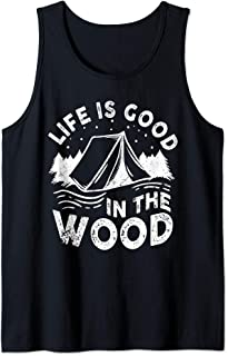 Life Is Good In the Wood Happy Camper For Camping Lover Tank Top