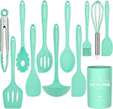 Kitchen Utensil Set - 12 Cooking Utensils Set- Colorful Silicone Kitchen Utensils - Nonstick Cookware with Spatula Set - K...
