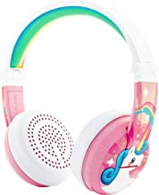BuddyPhones Wave, Waterproof Wireless Bluetooth Volume-Limiting Kids Headphones, 20-Hour Battery Life, 4 Volume Settings of 75, 85, 94db and StudyMode, Includes Backup Cable for Sharing, Pink