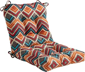 South Pine Porch Outdoor Surreal Chevron Seat/Back Chair Cushion