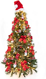 TreElf Hayden Amazon's Choice! All-in-One Christmas Ornament Set for 6' Tree. (70) Designer Pieces, Includes 12 Handcrafted Bows to Decorate Your Most Beautiful Tree!