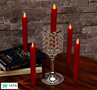 YATAI Flameless Candle Battery Operated Romantic Realistic Red LED Candles Tea Lights Candles for Indoor and Outdoor Bath ...
