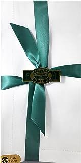 Thomas Ferguson - 男士 BH133 白色镶边爱尔兰亚麻手帕 - 2 件装礼盒
