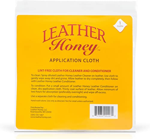 Leather Honey Lint-Free Application Cloth - Perfect for Use with The Best Leather Conditioner Products Since 1968 - L...