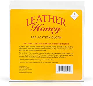 Leather Honey Lint-Free Application Cloth - Perfect for Use with The Best Leather Conditioner Products Since 1968 - Leathe...