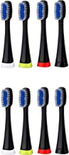 Pursonic 8 pack replacement Brush Heads for S750 (black)