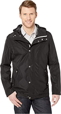 Button Front Tech Rain Jacket