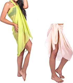 Beach Cover up Sarongs in Mixed Sizes and Color in Long Sarong