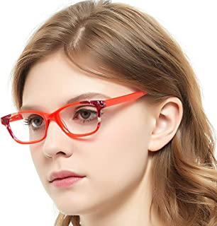 aade97a49b3 OCCI CHIARI Rectangle Stylish Non-prescription Optical Women Eyewear Frame  With Clear Lens