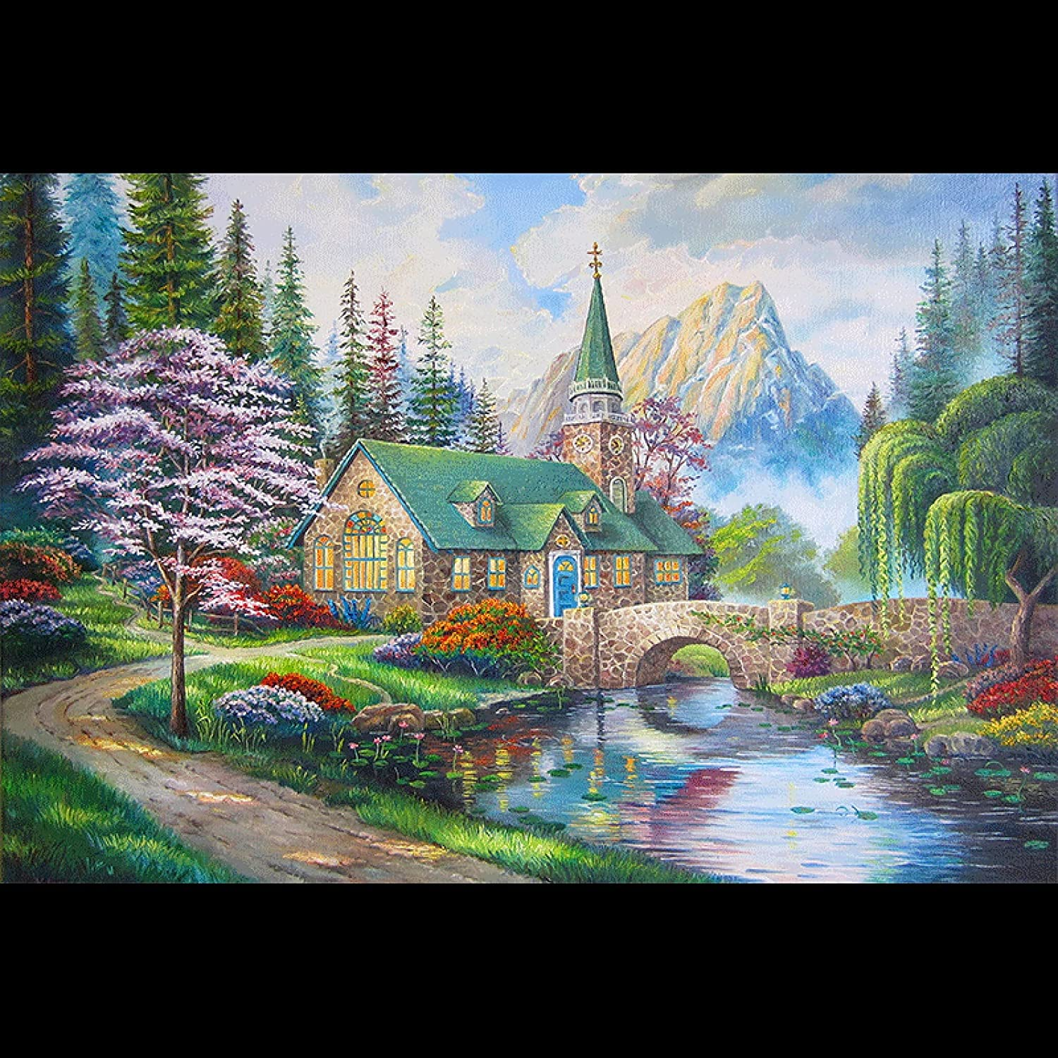 Church in The Forest Jigsaw Puzzles 1500 1000 2000 Today's only 3000 500 4000 Low price