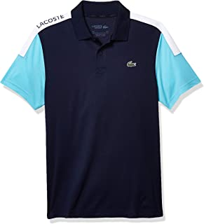 Men's Sport Short Sleeve Coloblock Graphic Ultra Dry Polo Shirt