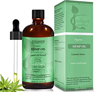 HEMP SEED OIL 100ML, 100% Cold Pressed Unrefined, Organic,