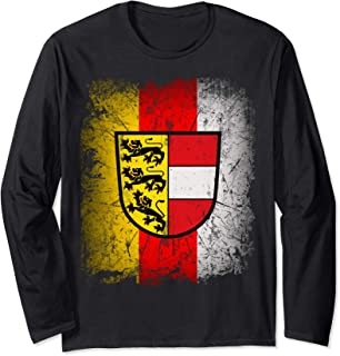 Carinthia T-Shirt with Coat of Arms and Flag Retro Kaernten Long Sleeve T-Shirt