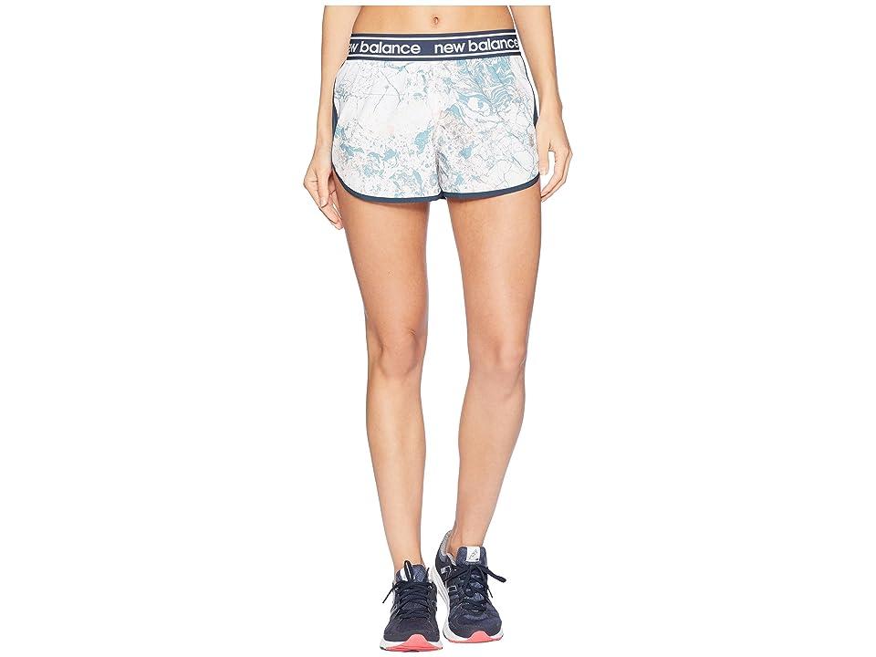 New Balance Printed Accelerate 2.5 Shorts (Himalayan Pink/White/Smoke Blue/Digi Deep Marble) Women