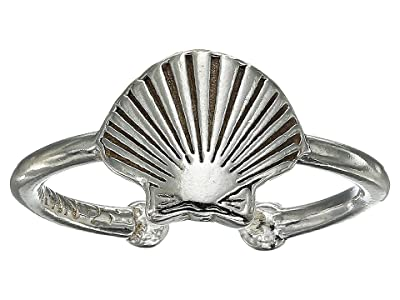 Alex and Ani Seashell Adjustable Ring (Sterling Silver) Ring