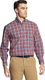 IZOD Men's Button Down Long Sleeve Stretch Performance Plaid Shirt (Discontinued)