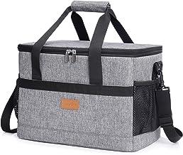 Lifewit Koeltas, 30 liter, groot, opvouwbaar, koelbox, isolatietas, picknicktas voor levensmiddelen, grijs
