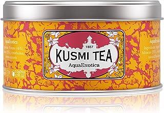Kusmi Tea - Aqua Exotica - Herbal Fruit Tea Blend of Hibiscus, Apple & Exotic Flavors including Mango & Dragon Fruit - 4.4oz of Natural Loose Leaf Caffeine-Free Herbal Tea in Metal Tin (50 Servings)