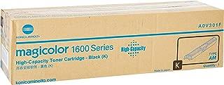 Konica Minolta High Capacity Black Toner Cartridge, 2500 Yield (A0V301F)