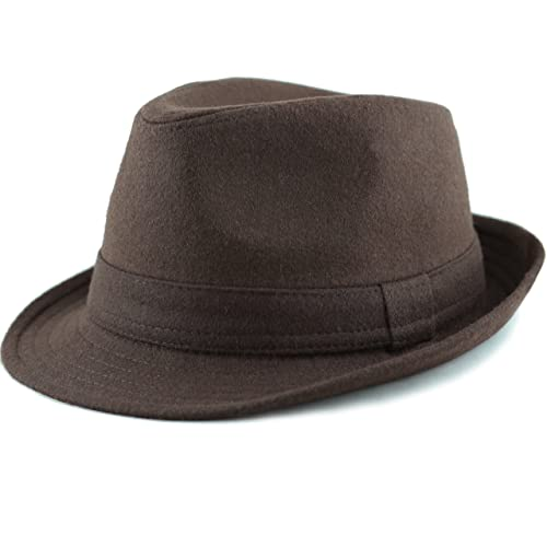 2e895b680402a THE HAT DEPOT Faux Suede Wool Blend Trilby Fedora Hats
