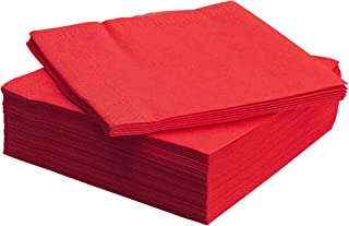 IKEA فانتاستيك - مناديل ورقية، أحمر / 50 حزمة - 24x24 سم