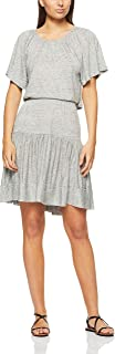 French Connection Women's Tiered Jersey Dress, Grey Marle