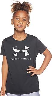 Under Armour girls Big Logo Tech Short Sleeve Top