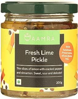 Aamra (Ghaziabad) Homemade Fresh Lime Indian Pickle - 200 grams