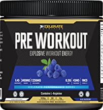 Xcelerate Pre Workout 30 Servings 330g Pre-Workouts Explosive Energy Pump Supplement Powder Pre Workout Drink Estimated Price : £ 14,99