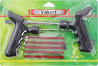 Vakert Tire Repair Kit Tool T-Handle String Plugs لاستیکی برای اتومبیل کامیون موتور سیکلت
