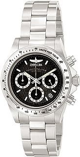 Invicta 9223 Speedway Unisex Wrist Watch Stainless Steel Quartz Black Dial