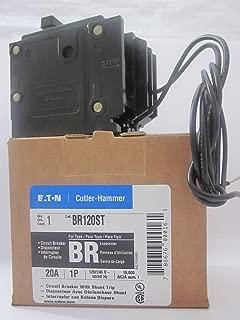 BR120ST 1 Pole, 20A, Plug-in, 120/240 VAC, Type BR Shunt Trip Circuit Breaker