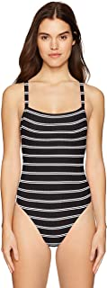 Seafolly Women's 80's High Cut Tank One Piece Swimsuit