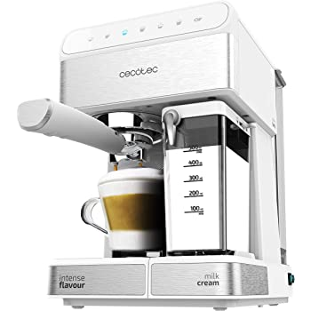Cecotec Cafetera Megautomática Power Matic-ccino 8000 Touch, Depósito de leche, Pantalla Táctil interactiva, Prepara Cappuccino, Café Personalizable, Tecnología ForceAroma 19 bares de presión: Amazon.es: Hogar