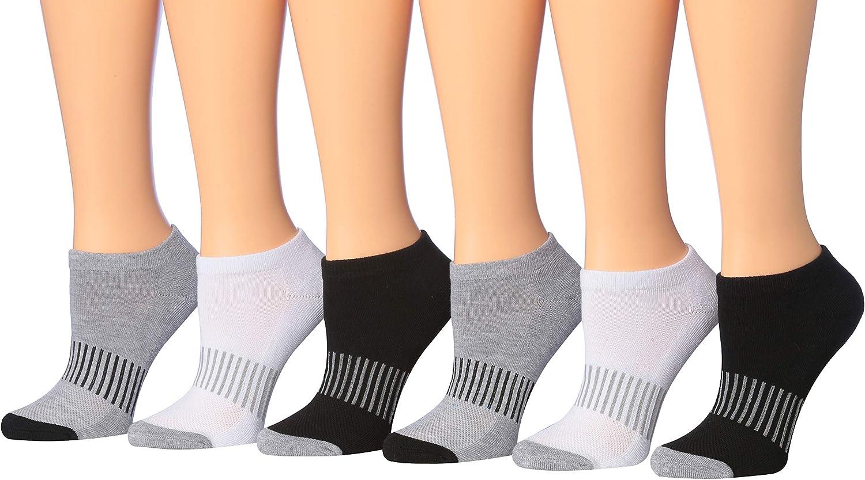 Tipi Toe Women's 6-Pairs Low Cut Athletic Sport Peformance Socks