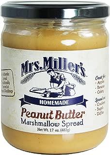 Mrs. Miller's Homemade Peanut Butter Marshmallow Spread 17 oz. Jar (2 Jars)