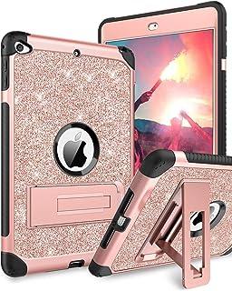 BENTOBEN Case for iPad Mini 5 / iPad Mini 4, Glitter 3 Layer Full Body Protective Kickstand PU Leather Shockproof Girls Wo...