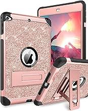 BENTOBEN Case for iPad Mini 5 / iPad Mini 4, Glitter 3 Layer Full Body Protective Kickstand PU Leather Shockproof Girls Women Kids Tablet Cover for Apple iPad Mini 5 / Mini 4, Rose Gold
