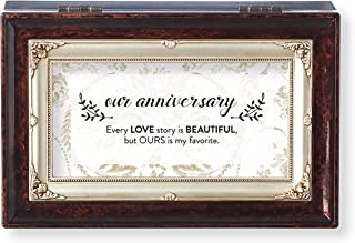 Roman Wedding Our Anniversary Small Insert Music Box Brown