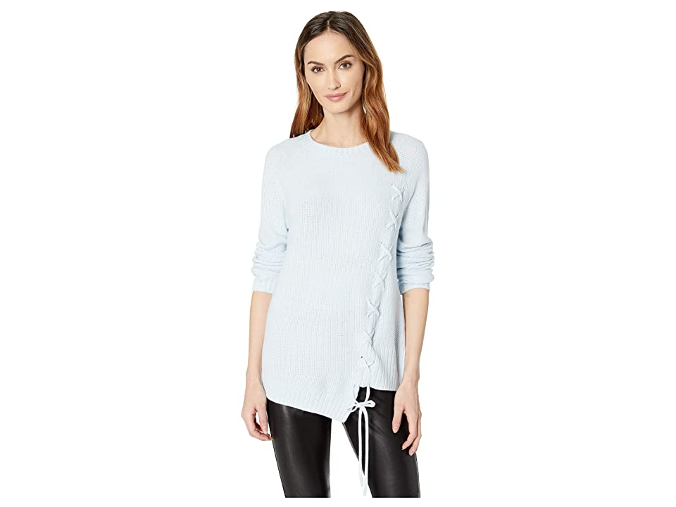 Ivanka Trump Lace-Up Sweater (Frost) Women