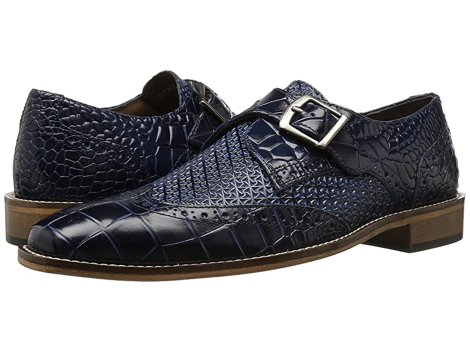 Mens Vintage Style Shoes| Retro Classic Shoes Stacy Adams Giannino Blue Mens Shoes $90.00 AT vintagedancer.com