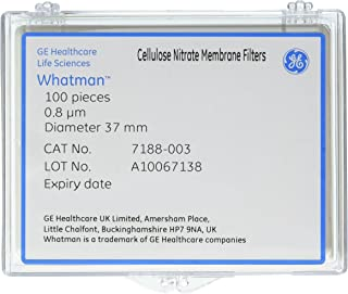 Pack of 100 25mm Diameter Circle 5.0/µm Pore Size GE Healthcare Life Sciences GE Whatman Cyclopore 7062-2513 Polycarbonate Track-Etched Clear Membrane