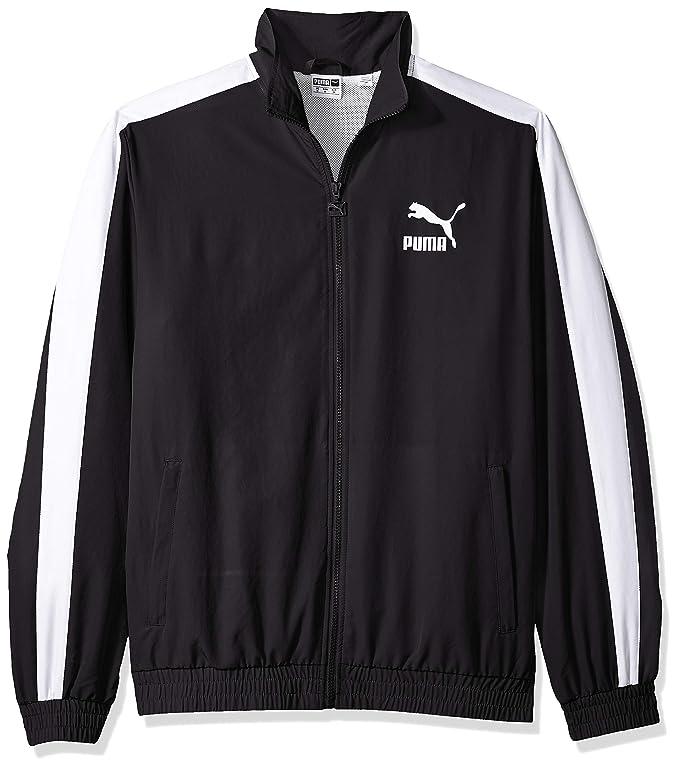 PUMA Men's Iconic T7 Track Jacket Woven, Black, S at Amazon Men's ...