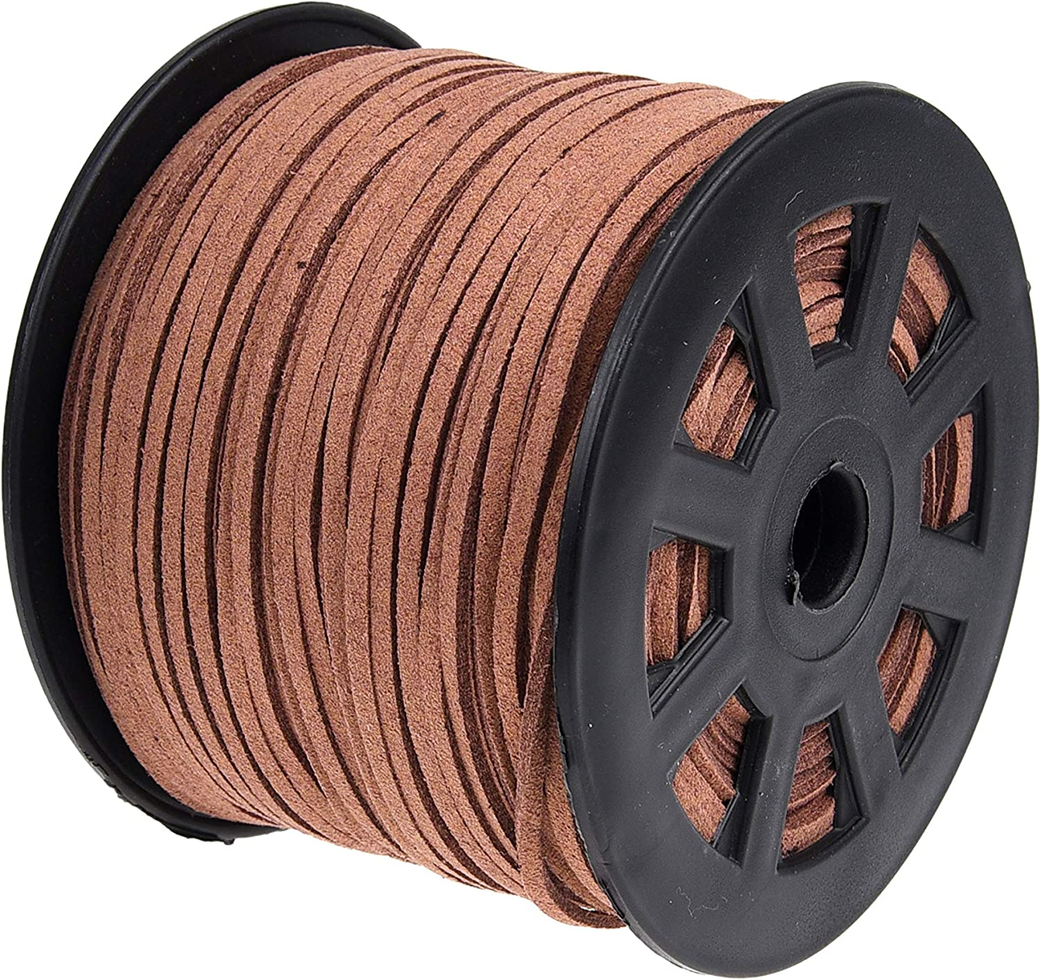 Kare Kind Mail order cheap 100 Yards Suede Cord - Lace L 1.5 mm x 2.6 Denver Mall Faux