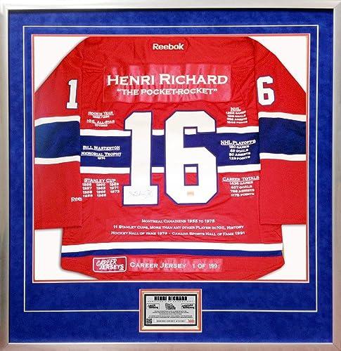 Generic Henri Richard voiturerière Jersey   1de 199 autographe des Canadiens de Montréal