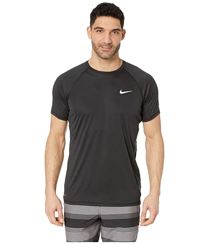 Nike Solid Short Sleeve Hydroguard (Black) Men