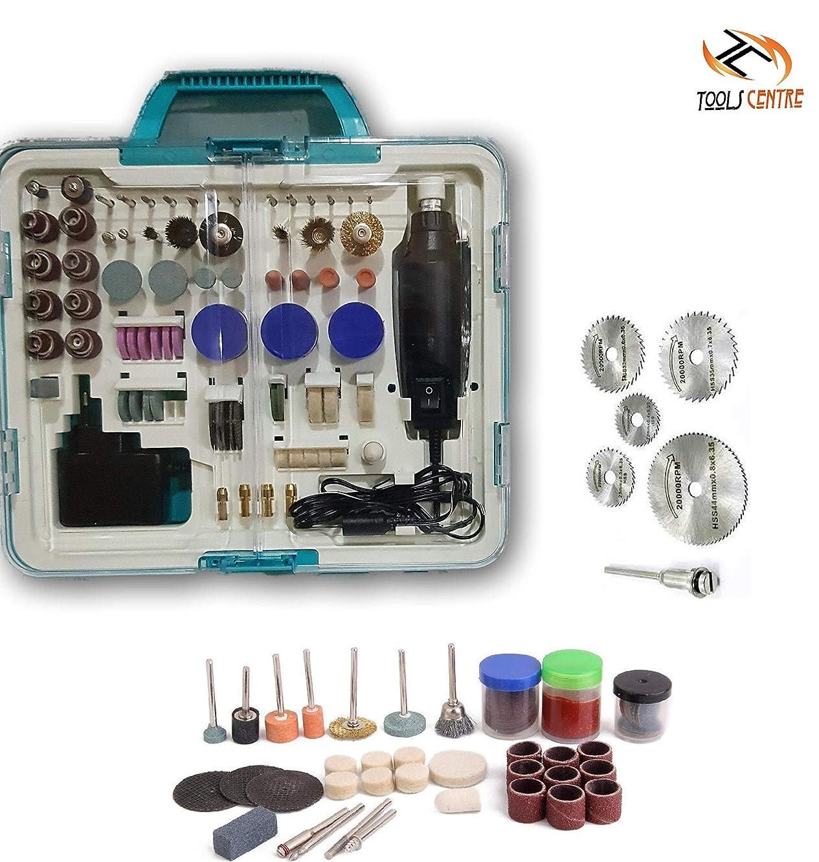 Tool Centre 259pcs Rotary Tool Die Grinder Mini Die Grinder Kit & Diy Crafts Work Accessory Kit,Die Grinder Kit.